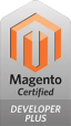Magento Developer Plus certification badge