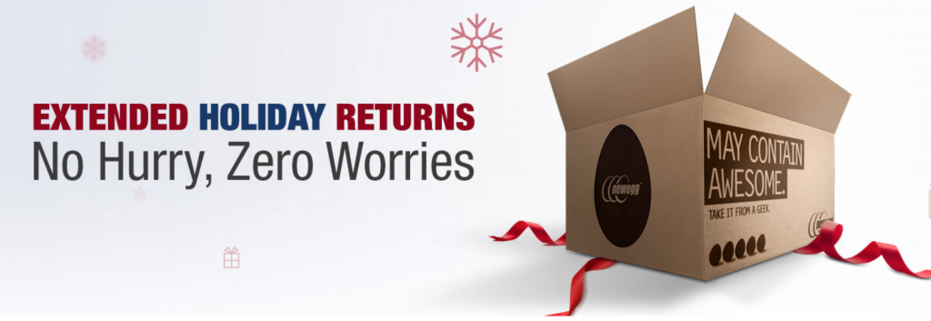 Newegg holiday extended returns
