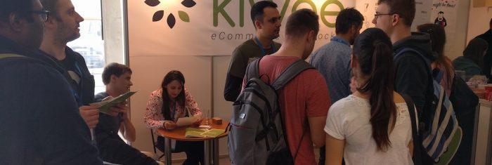Kiwee stand at the job fair