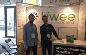 Kiwee stand at the job fair