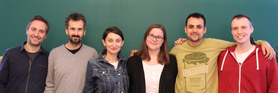 Karolina with Kiwee team at the end of her internship