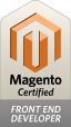 Magento Front-end Developer certification badge