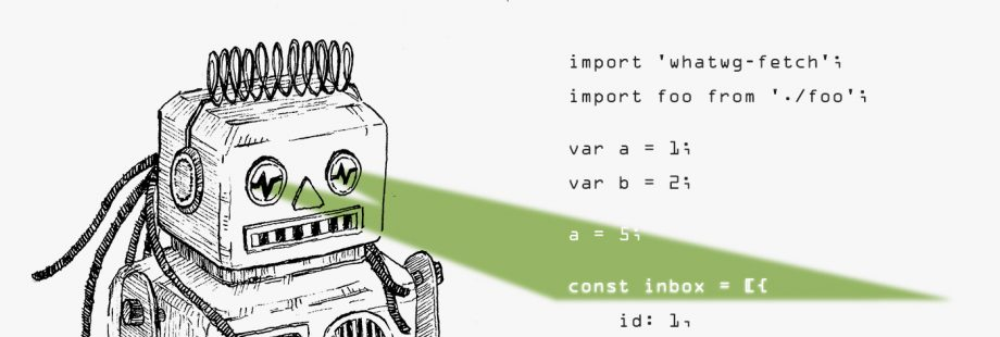 A robot scanning code snippet